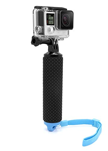 MyGadget Impugnatura Galleggiante Waterproof Action Camera - Bastone Impermeabile - Braccio Hand Grip per GoPro Hero 8 7 6 5 4 Xiaomi Yi 4k - Blu