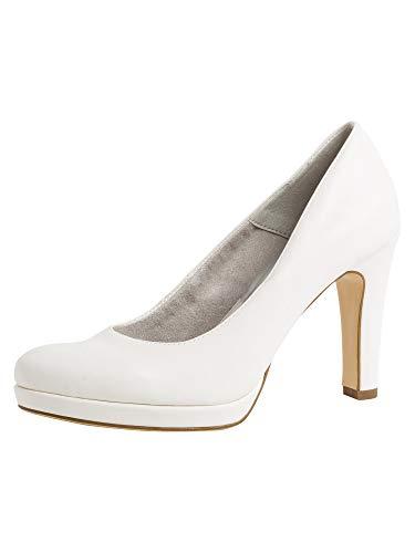 Tamaris 1-1-22426-24, Zapatos de Tacón Mujer, Blanco (White Matte 140), 39 EU