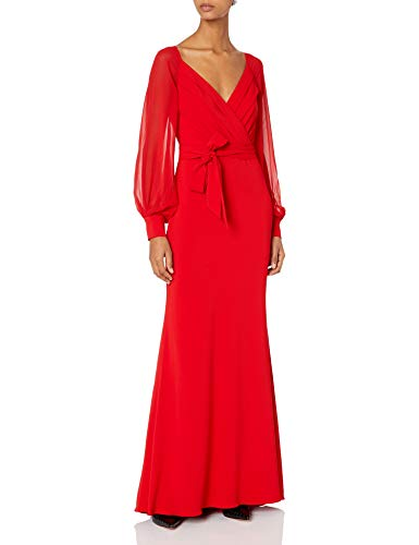 31GzYSgrnNL Guest of wedding Classic wrap silhouette reinvented as a gown Long sleeves for arm coverage