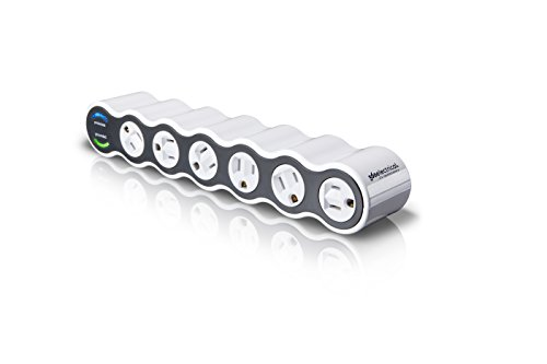 360 Electrical 36051 Power Curve 6 Outlet Surge Protector,White and...