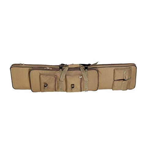 LUVODI Housse de Transport pour Fusil à Air/Fusil de Chasse Rembourée Sac Tactical Double Rifle 118 cm Mallettes pour Arme Longue Protection de...