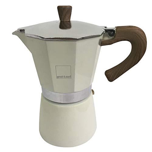gnali&zani EZ 006/IND/CREA Venezia Coffee Maker 6 Cups Induct Cream