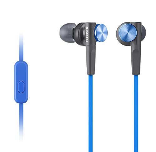Sony Extra Bass MDR-XB50AP Wired in Ear Headphone with Mic (Blue)