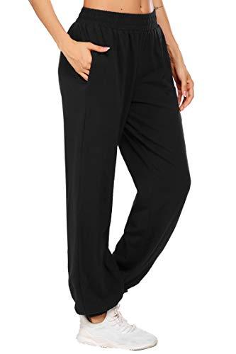 coorun Yoga Jogger for Women Workout Pants Oversized Lounge Trousers Casual Pants Classic Sweatpants Black 2