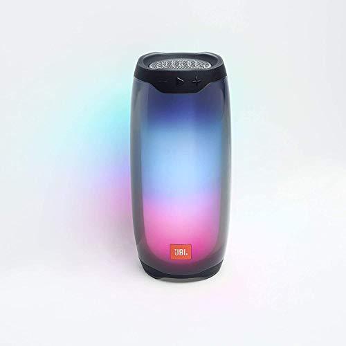 JBL Pulse 4 – Enceinte Bluetooth portable lumineuse – Système de son à 360 degrés – Autonomie 12 hrs – Étanche pour piscine & plage – Noir