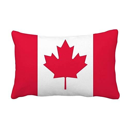 DIYthinker Canadá Bandera Nacional Norteamérica País El Tiro Lumbar de la Almohadilla Inserte la Cubierta del Amortiguador Inicio Sofá Regalo de la decoración