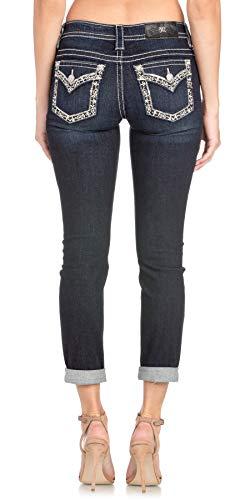 Miss Me M3260fa2 Skinny Jeans für Damen, mit Bündchen und...