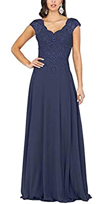 Mother Of The Bride Dresses for Women 2021 Lace Appliques Chiffon Long Cap Sleeve A-Line Plus Size Mother Of The Groom Dresses Women's Formal Dress Feature:Women's Mother of The Groom Dresses,Formal Dresses for Wedding,Lace up Back,Appliques,Mother o...