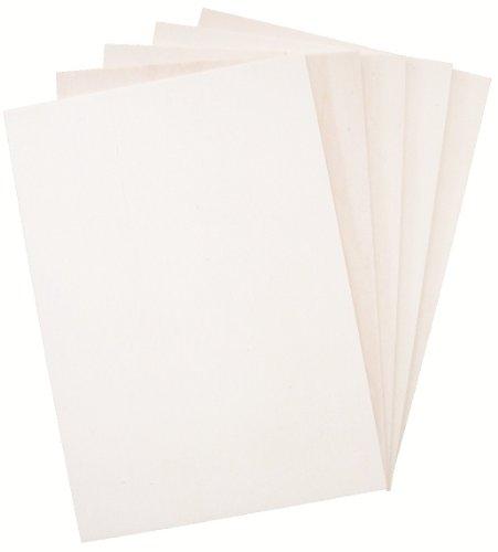Hagspiel Laubsägeholz, 10 Stk. Sperrholz, Sperrholzplatten, Pappel 4 mm DIN A4 (ca. 30 cm x 21 cm),