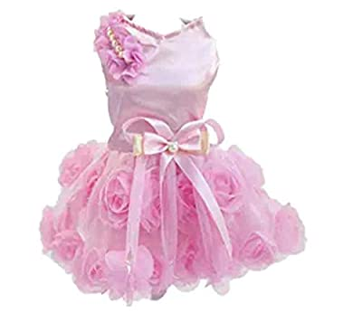 So cute! Your inloved pet will looks like a princces! The dog tutu skirt is made of high: quality fabric, matches beautiful designer or flowers, Looks Fashion and Sweet, your pet looks very awesome in it. Durable, comfortable, breathable enough,and i...