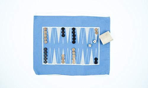 A Summer Shop The Original, Backpack Backgammon & Checkers: Blue Bird