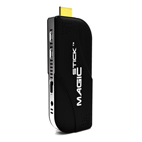 Magicstick The Best Intel PC Stick, Powerful Full Featured Computer with Windows10 and Android OS Preloaded, IOT Enabled, Dual Display, FanLess, Type-C, Metal Case, Long Life Battery (Black)