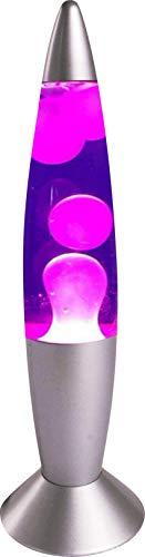 7even Lava Lampe Rakete 35cm lila Retro-Lampe fertig mit Stecker…