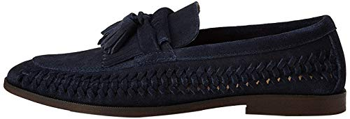 find. Woven Leather Mocasines, Azul Navy, 43 EU