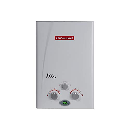 Racold LED LPG Gas Instant 5 Liter Vertical Water Heater White