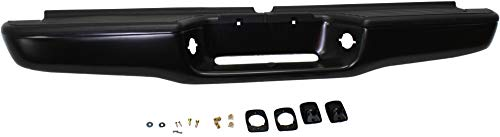 Step Bumper Assembly Compatible with 1995-2004 Toyota Tacoma Painted Black Steel Fleetside All Cab Types