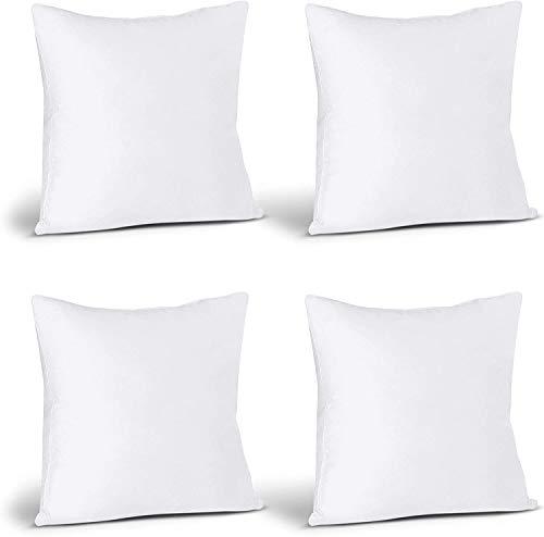 Utopia Bedding Set di 4 Cuscini - 40 x 40 cm Imbottitura per Cuscini - Tessuto Misto Cotone Cuscini Divano - Cuscino Interno (Bianco)
