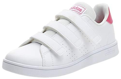 adidas Advantage C, Zapatillas de Tenis, Blanco Ftwbla Rosrea Ftwbla 000, 35 EU