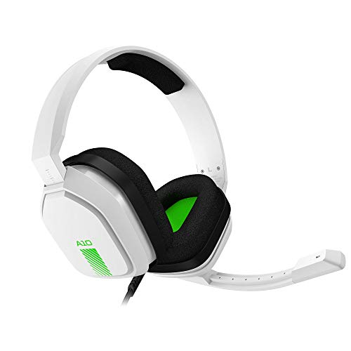 ASTRO Gaming A10 Gaming-Headset mit Kabel, Leicht & Robust, Astro Audio, Dolby Atmos, 3,5mm Anschluss, Xbox Series X|S, Xbox One, PS5, PS4, Nintendo Switch, PC, Mac, Smartphone - Weiß / Grün