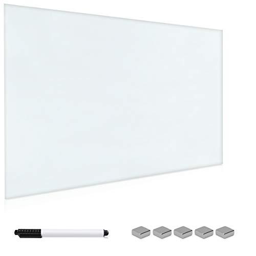 Navaris lavagna magnetica in vetro whiteboard - lavagna 60x40 cm - bacheca scrivibile organizer con...