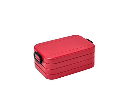 Mepal - Fiambrera mediana Take a Break, con 900 ml de capacidad, color rojo nórdico. Fiambrera con divisor, ideal para preparar comidas. Apta para lavavajillas, ABS