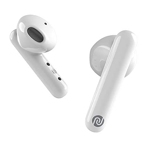 Noise Air Buds Truly Wireless Bluetooth Earbuds with Mic for Crystal Clear Calls & Music, 20 Hour Playtime & Smart Touch Control - ICY White