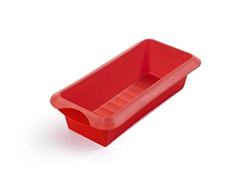 Lékué - Molde de silicona Rectangular, Rojo, 24cm