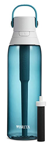 Brita Plastic Water Filter Bottle, 26 oz, Sea Glass