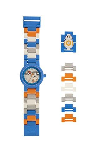 LEGO Star Wars 8020929 Orologio da polso componibile per bambini con cinturino a maglie e minifigure...