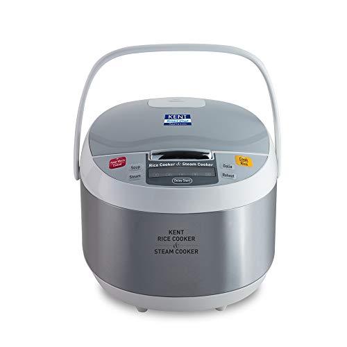 KENT 860-Watt 16012 Rice and Steam Cooker (Grey)