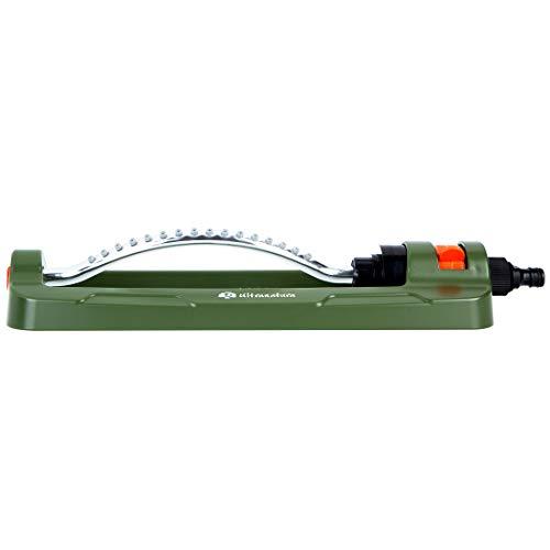 Ultranatura Viereck Sprinkler Easy Control, Variables Bewässerungssystem für Garten und Blumen, Beregnung für Gartenflächen bis 335 Quadratmeter Größe