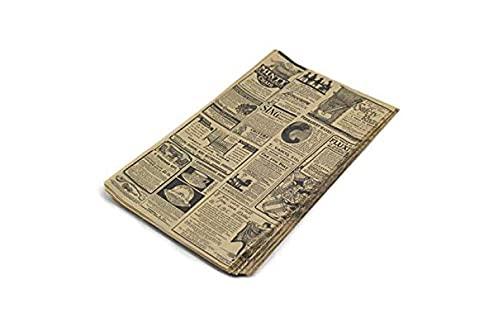 Hostelnovo - 100 Unidades de Papel antigrasa para Envolver Alimentos - Medida única de 32 x 20 cm - Especial para Basket Chips y Cualquier Tipo de Recipiente - Papel Kraft
