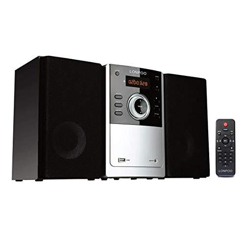 Micro Chaîne HiFi Audio Bluetooth Mini Système Audio Domestique 30W avec Lecteur CD, Radio FM, Entrée USB, MP3, Entrée Audio, Prise Casque, Télécommande, Design Moderne