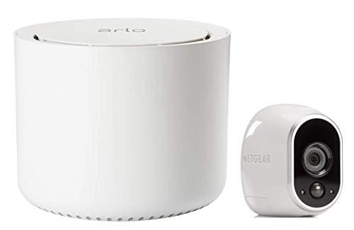 Arlo | Caméra de surveillance Wifi Sans fils, Pack de 1 HD Jour/Nuit, Etanche IP65, Intérieur/Extérieur, Fixation Aimantée - Stockage gratuit dans le Cloud (VMS3130)