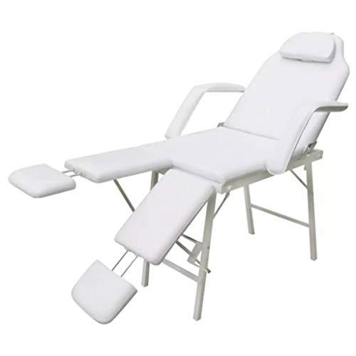 vidaXL Poltrona Letto Massaggi Trattamenti Portatile Crema Sedia da Estetista