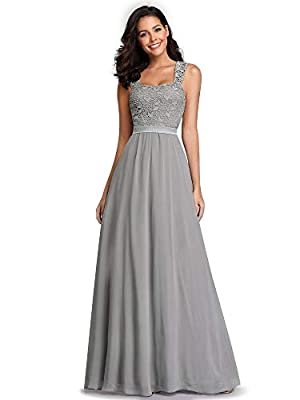 Fully lined, no built-in bras Features: A-Line, cap sleeve, floral lace bodice, elastic waist, floor length bridesmaid dress Stretchy elastic band ensures a comfortable flattering, which is suitable for most women Perfect for wedding party, wedding g...