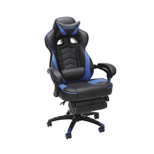 RESPAWN 110 Racing Style Gaming Chair, Reclining Ergonomic Chair with Footrest, in Blue (RSP-110-BLU)