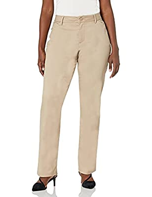 RELAXED FIT. With a relaxed fit and mid rise, these pants are a wardrobe necessity. These women's slacks help keep you looking wrinkle-free for carefree wear from work to dinner. WRINKLE-FREE. Made with wrinkle-free fabric, these women's dress pants ...