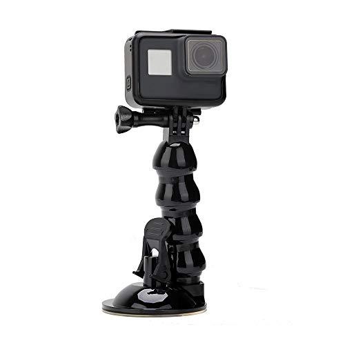 Eyeon Jaws Flex Clamp Morsetto Flettere Supporto a Ventosa Auto con Estensione Flessibile a Collo d'oca per GoPro Hero/Session, Xiaomi Yi 4K/Lite, Polaroid, SJCAM, Akaso, Campark, Apeman e Smartphone