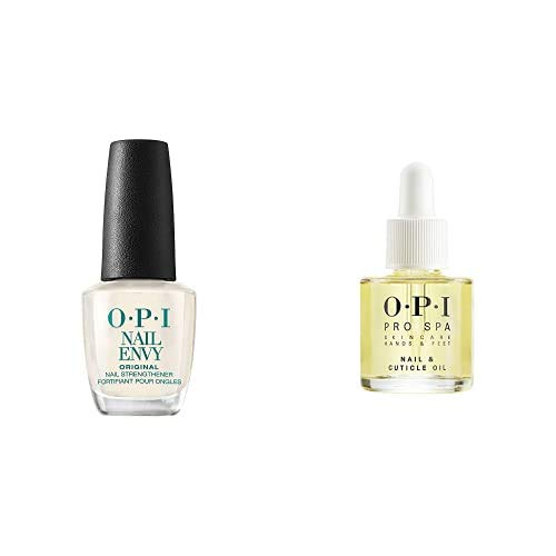 OPI Nail Strengthener, Nail Envy Nail Strengthener Treatment, Nail Treatments, 0.5 fl oz, OPI ProSpa Collection, Manicure Nail & Cuticle Oil and Skin Care Essentials
