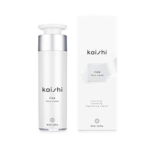Kaishi - Crema facial de arroz Rice para hidratar, matificar y unificar el tono de la piel, 50 ml