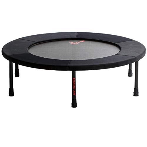 Rebound Air Standard Rebounder Foldable Mini Fitness Trampoline for Adults, Kids and Family | Personal Indoor/Outdoor Exercise Equipment for Home Gym Workout Up to 300 lbs | Folding Legs (Black)
