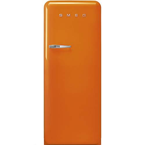 SMEG FAB28ROR3 - Frigorifero Monoporta con Congelatore SMEG Estetica Anni '50 Ventilato 270 Lt arancione Apertura a destra Classe A+++
