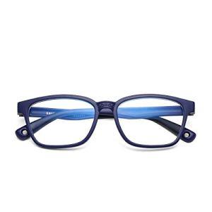 COASION Kids Blue Light Blocking Glasses Silicone Flexible Square Eyeglasses Frames for Girls Boys Age 3-12