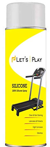 LET'S PLAY® Imported Silicon Oil Lubricant Spray for Treadmill (550ml) to Smoothen & Servicing Belt and Baring for All Treadmills.