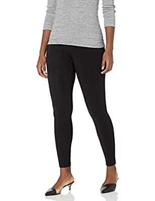 Pull on legging with comfortable stretch Superb fit with no see-through Wide non-binding comfort waistband Inseam 29 inches