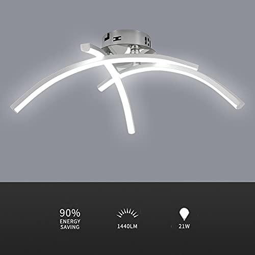 DAXGD Plafoniera led da soffitto, 21W Lampada da Soffitto LED 39CM Plafoniere a LED soffitto 6000K Luce bianca fredda per Camera da letto Scala Corridoio