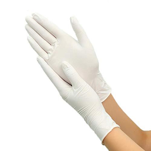 Bmstjk 100 Pezzi Guanti monouso, Guanti in Nitrile di Lattice, per lavastoviglie/Cucina/Lavoro/Gomma/Guanti da Giardino, universali per Mano Sinistra e Destra-L