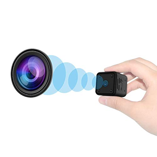 Mini Telecamere Spia nascoste, Full HD 1080P con rilevatore di movimento per visione notturna, microcamera di sicurezza portatile con scheda SD da interno / esterno 32G