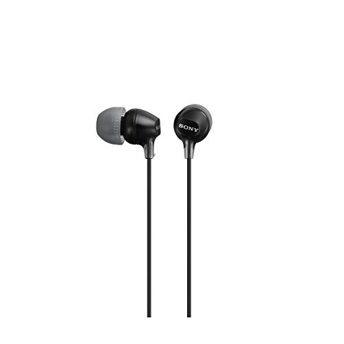 Sony MDR-EX15LP Auriculares In-Ear, Negro, 9 mm